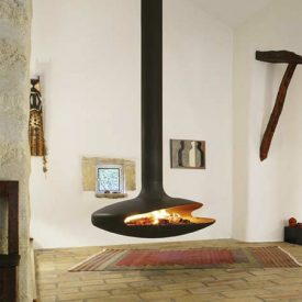 ?What is a Hanging Fireplace